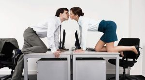 Office-workers-kissing